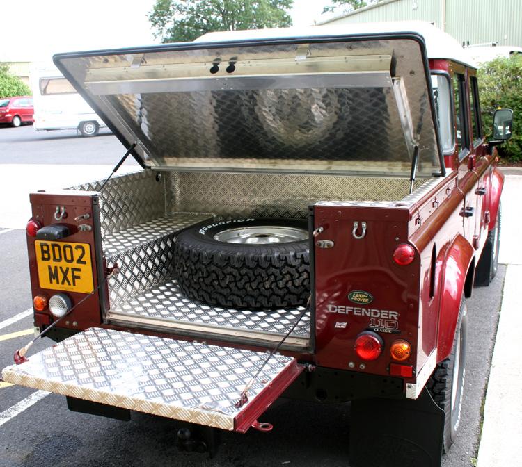 Land Rover 90 110 Samson Hinged Aluminium Top Cover