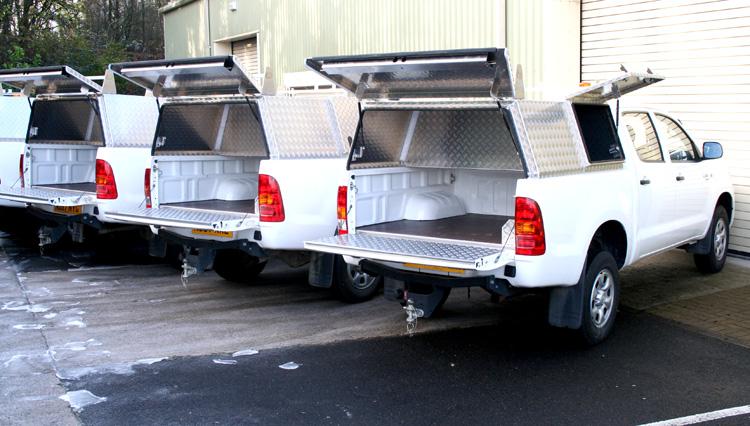 Aluminium TRUEWORK Canopy With Secure Storage Box ...