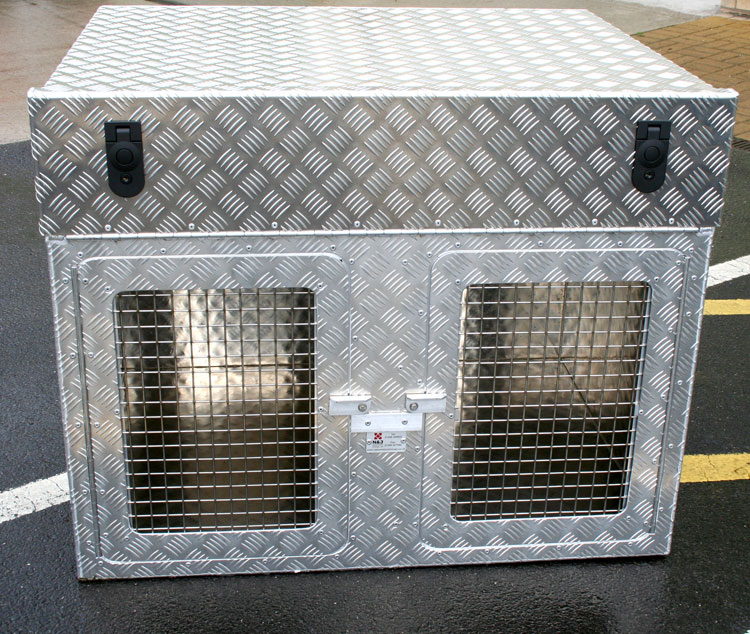 Aluminium Terrier Dog Box To Fit In Your 4x4 Pickup Dog Boxes Boxes N Amp J Aluminium Linings