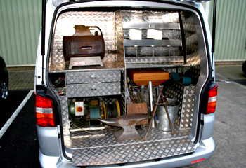 Volkswagon Van Conversion Mobile Forge Farriers