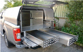 Agrican Canopy, Dog Gates and Drawer System