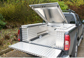 Aluminiuim Combi-Hinged Top and Side locker boxes