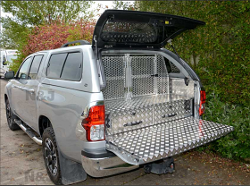 Carryboy Leisure Canopy with Drawers and Dog Guard.