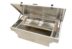 Aluminium Tool Box Complete with Dividers and removable trays