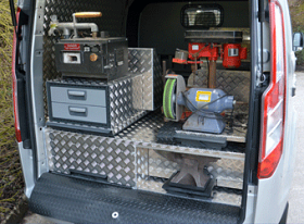 A New Ford Custom Van Farriers Workshop