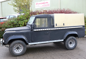 130 Land Rover Single Cab Canopy