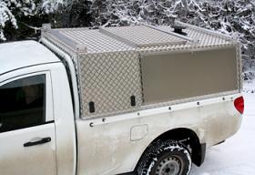 Single Cab Aluminium Canopy with Shooting Hatch