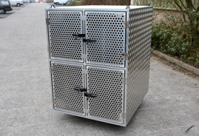 Dog Crate divided into 4