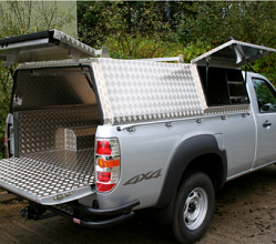 Aluminium 'Truework' Canopy With Secure Storage Box