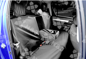 Tailored Rear Seat Cover In Dark Grey