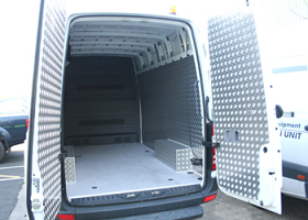 Mercedes Sprinter, Aluminium Van Lining