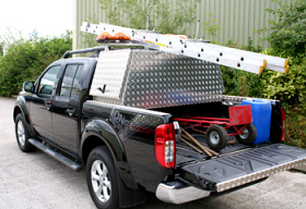 Aluminium Locker box , Ladder Rack Combination