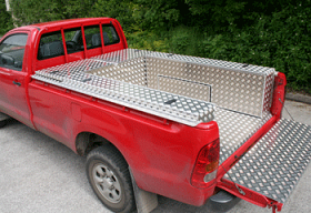 Single Cab Aluminium Boxes and Samson Lining