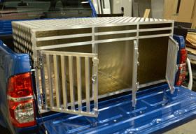 Aluminium Triple Dog Box- New