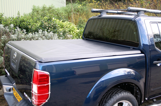 Black Soft Folding 4 x 4 Pickup Bed Tonneau Cover