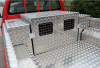 Double Dog Box with aluminium side boxes accessible from either side of the pickup bed.