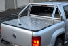 VW Amorak Samson Hinged Tonneau Cover and Stainless Steel Single Hoop Sports Bar.