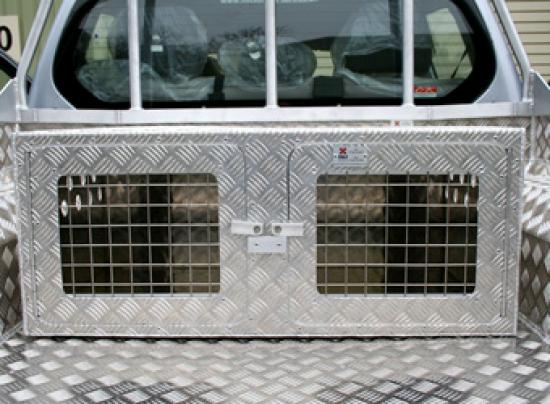 Aluminium Terrier Dog Box to fit in your 4x4 Pickup