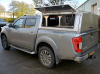 NP300 Nissan Gullwing Canopy with Roof Bars, with optional bulkhead window and solid aluminium rear door.