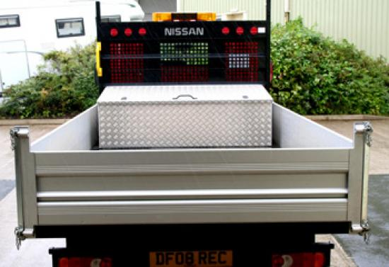 Tool Storage Box fitted to Nissan Cab Star