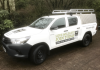 Toyota Solid Sided Samson Canopy with an N & J Roof Rack Fitted.