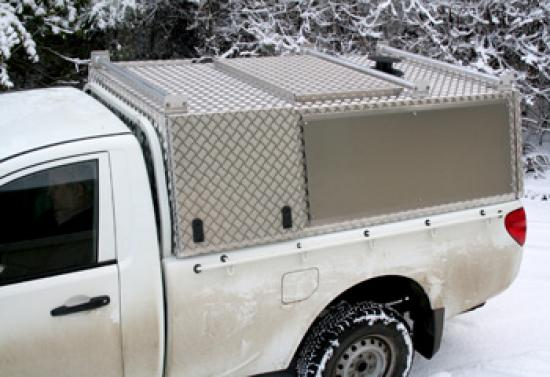 Single Cab Aluminium Canopy with Shooting Hatch