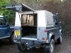 Samson Canopy fitted to Land Rover for use as a mobile Forge