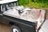 Land Rover with Diesal Tank fitted.