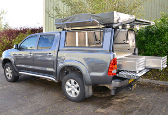 Toyota Overland Samson Canopy with Drawers & Toyota Overland Samson Canopy with Drawers | Aluminium | Canopies ...