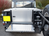 Tailgate opening Aluminium Box fitted in this Defender 110 Land Rover