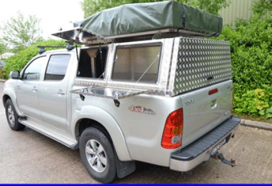 Overland Canopy fitted to a Toyota