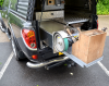 Slide out drawer with Blador and Farriers Tool Box fitted