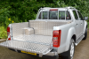 Aluminium Tool Box fitted with Lining and Ladder Rack.