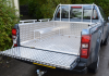 Isuzu Extra Cab Samson Load Liner and Ladder rack with bespoke lashing rails fabricated and fitted to the pickup.
