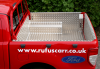 Lining fitted to Rufus Carrs Demonstrator Pickup as used in the Torchlight procession carrying the two local Olympians.