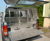 Agrican Canopy fitted with Solid Rear door and Window in door for vision.