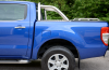 Image showing Side view of Ford Pickup with sports bar and short rails.