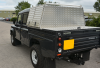Rear View of the Land Rover and Top Cover