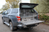 Flappy piece fitted onto tailgate for protection of the dogs legs.