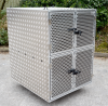 Perforated Aluminium Doors with New Latch Fasteners for security.