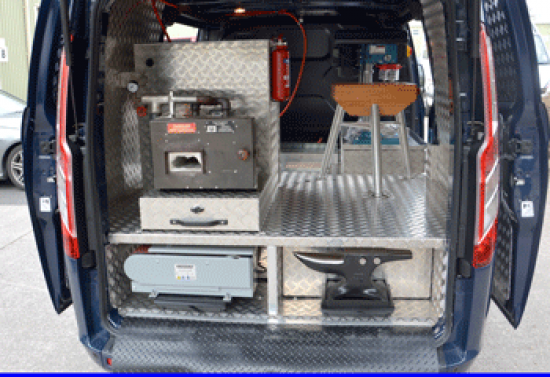 Ford Transit Custom Farriers Workshop with sliding side doors