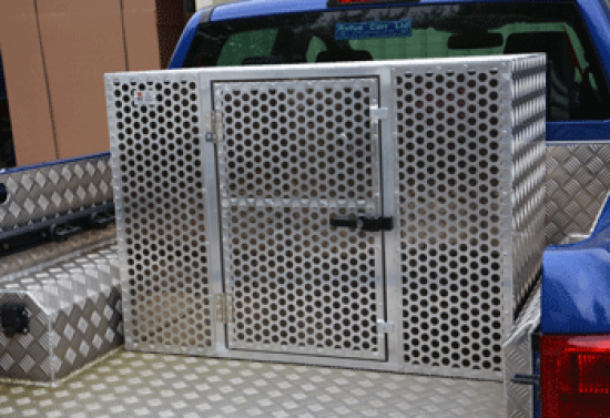 Double Dog Box with Perforated Mesh Door