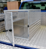 Full perforated mesh door, fully lockable handle