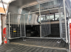 Dog Guard with divider and lockable doors.