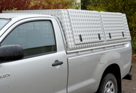 Samson Canopy for the Toyota Hilux Single Cab with Twin Side Doors
