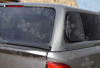 Rear of the Aeroklas Canopy on the Nissan NP300 double cab  offside Pop out