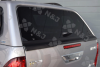 Rear Tailgate on the New Aeroklas on the Toyota Hilux Revo