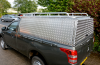 Solid sided canopy fitted with an aluminium N & J Roof Rack