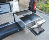 Rubber matting protecting the bumper and slide out drawer with Anvil Housing.