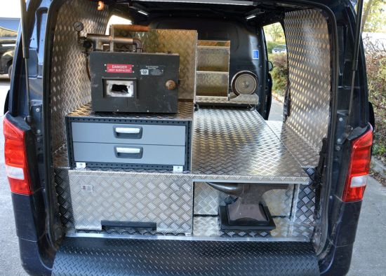 Farriers Mobile Workshop fitted to Mercedes Vito Van
